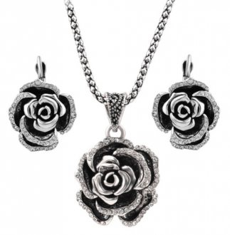 Silver Roses Set