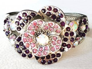 Purple Rose Bangle