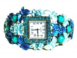 Turquoise Square Watch