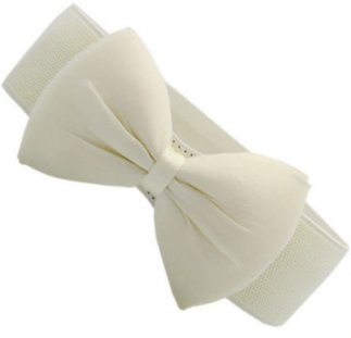 Cream Belt Bow