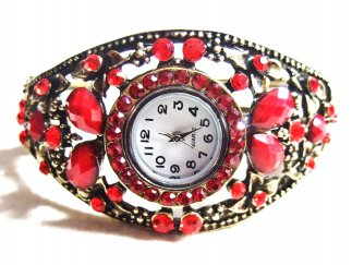 Red Stones Watch