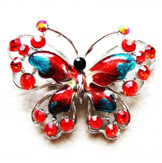 Red Crystal Butterfly