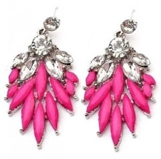 Pink Crystal Feathers