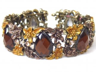 Brown Teardrop Bangle