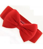 Red Belt Bow