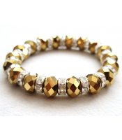 Gold Crystals Bracelet