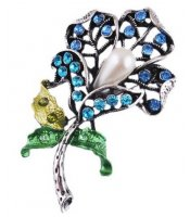 Blue Lily Brooch