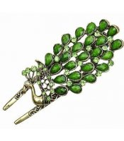 Green Peacock Clip