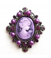 Purple Lady Brooch