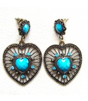 Turquoise Vintage Hearts
