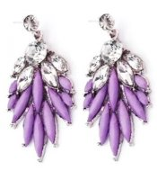Purple Crystal Feathers