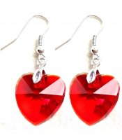 Red Crystals Hearts