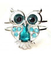 Turquoise Owl Bangle