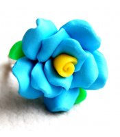 Turquoise Clay Rose