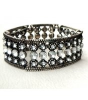 Silver Diamonds Bangle