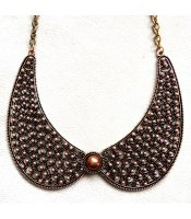Coffee Pearl Collar