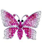 Pink Butterfly Brooch