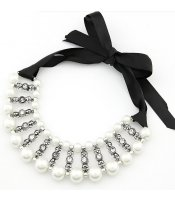 White Pearls Ribbon