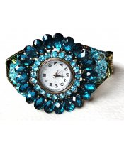Turquoise Sunflower Watch