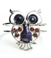 Purple Owl Bangle