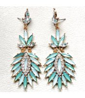 Turquoise Crystal Feathers
