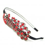 Red Peacock Headband