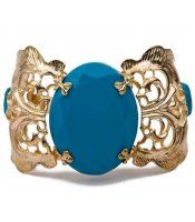 Turquoise Golden Bangle