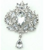 Clear Royal Brooch
