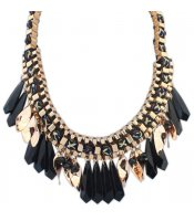 Black Tassel Collar