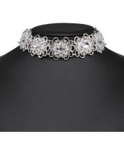 Silver Flowers Collar