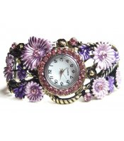 Violet Flower Watch