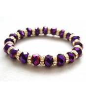 Purple Crystals Bracelet