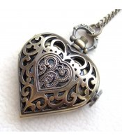 Vintage Heart Watch Filigree