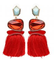 Tassel Crystal Red
